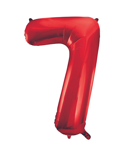 34 Inch Red Foil Number Balloon