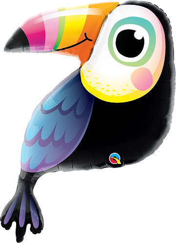 30 Inch Colouful Toucan Supershape Foil Balloon