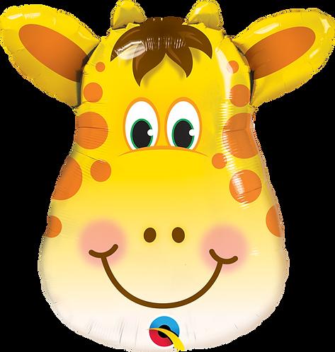 32 Inch Jolly Giraffe Supershape Foil Balloon