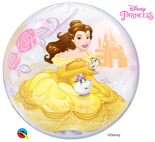 22 Inch Disney Princess Belle Bubble Balloon, Beauty and the Beast