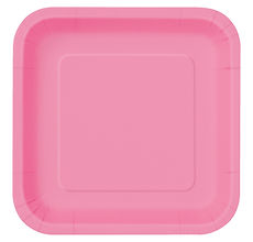31437 Baby Pink Square Paper Plates.jpg