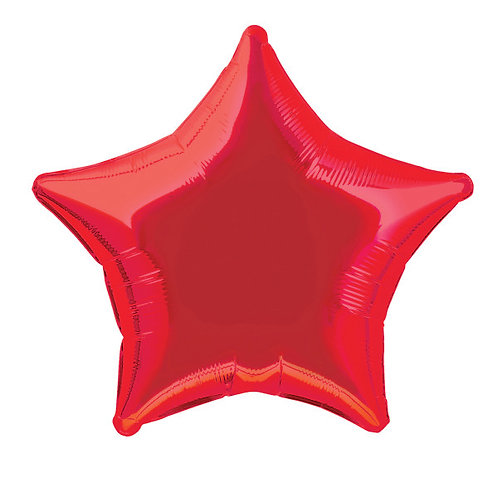 18 Inch Red Star Foil Balloon