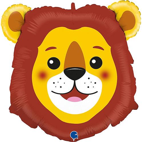 39 Inch Lion Head Supershape Foil Balloon