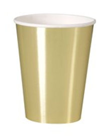 Large Metallic/Shiny Gold Paper Cups