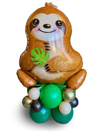 Supershape Sloth Balloon on latex balloo