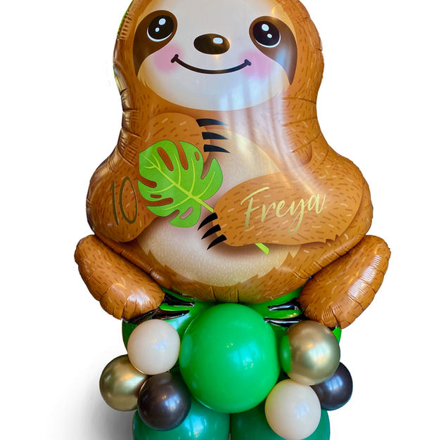 Supershape Sloth Balloon on latex balloo