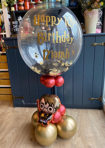 Harry Potter themed personalised bubble balloon