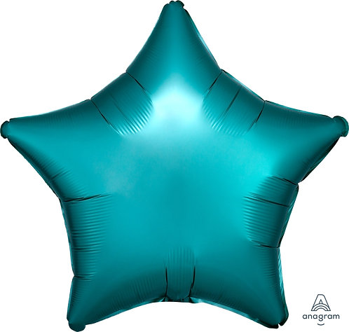 18 Inch Jade Plain Star Foil Balloon, Matt Finish