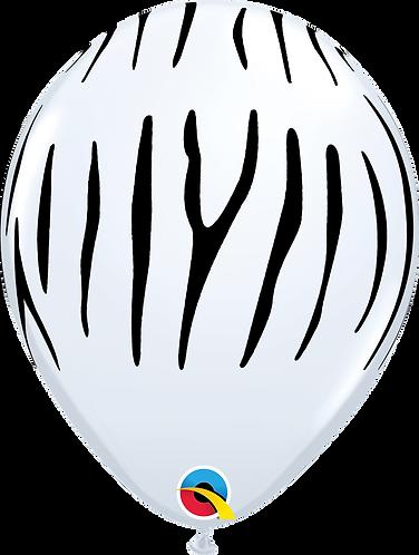 11 Inch Zebra Print Latex Balloons