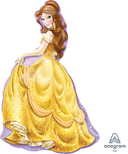 39 Inch Disney Belle,Beauty and the Beast, Foil Supershape