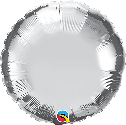 18 Inch Silver Round Foil Balloon