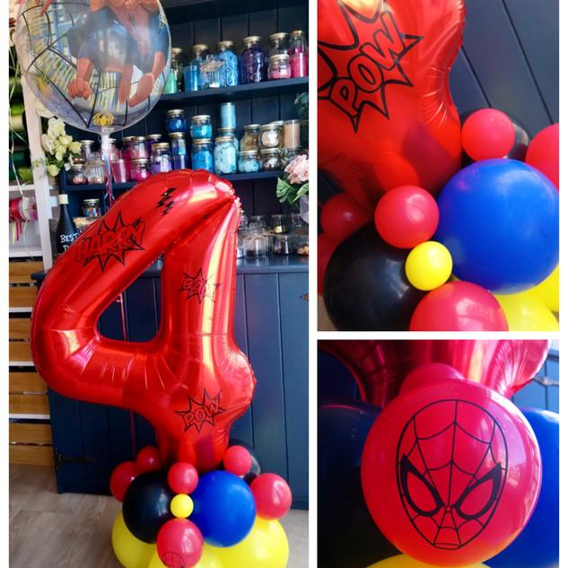 4th Birthday - Superhero_Spider Man them