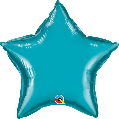 18 Inch Turquoise Star Foil Balloon
