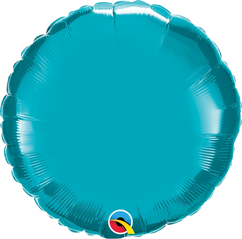 18 Inch Turquoise Round Foil Balloon