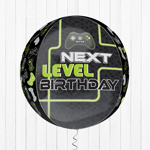 16 Inch Orbz Level Up Birthday Gaming - Helium-Filled