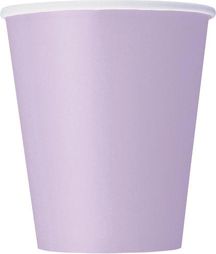 Lilac Paper Cups (9oz) 14pk
