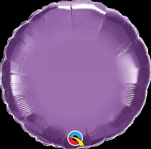 18 Inch Chrome Purple Round Foil Balloon