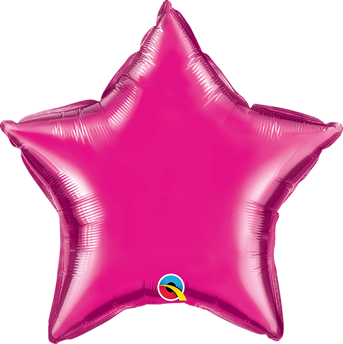 18 Inch Magenta Pink Star Foil Balloon