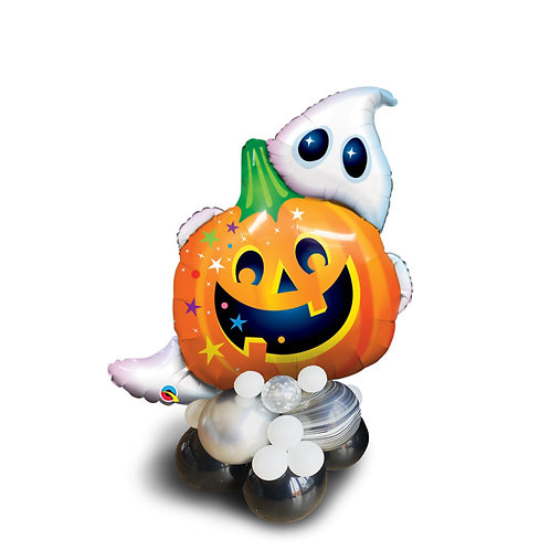 Supershape Foil Balloon - Cute Ghost and Pumpkin