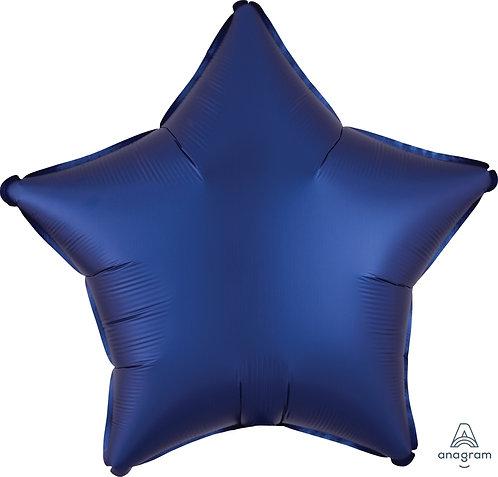 18 Inch Navy Plain Star Foil Balloon, Matt Finish