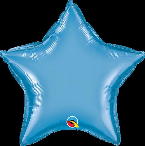 18 Inch Chrome Blue Star Foil Balloon