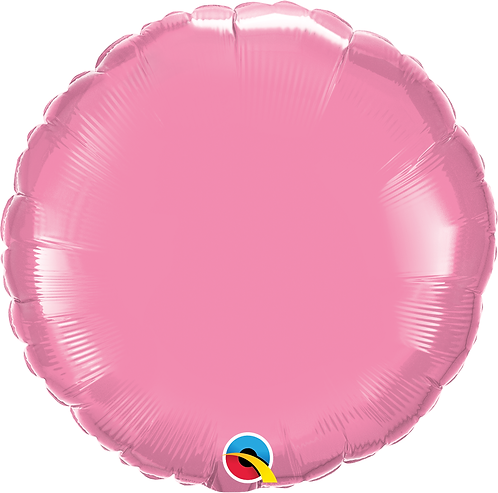 18 Inch Rose Pink Round Foil Balloon