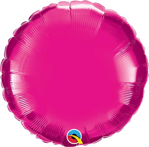 18 Inch Magenta Pink Round Foil Balloon