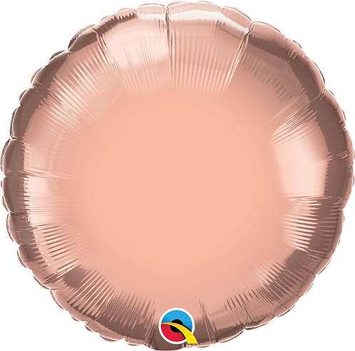 18 Inch Rose Gold Round Foil Balloon