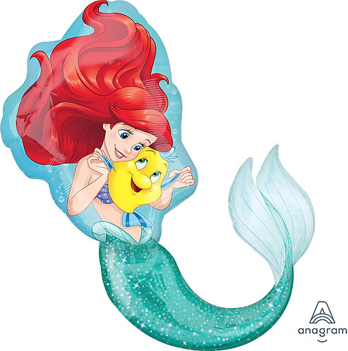 34 Inch Disney Princess Ariel The Little Mermaid Supershape Foil Balloon