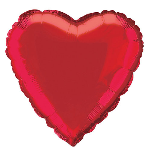 18 Inch Red Heart Foil Balloon
