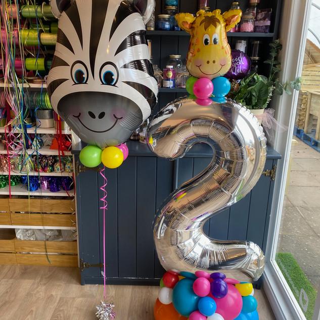 2nd Birthday - Animal theme, zebra super