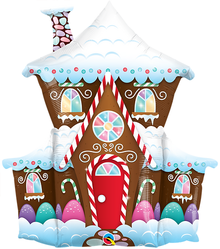37 Inch SuperShape Balloon Christmas Gingerbread House