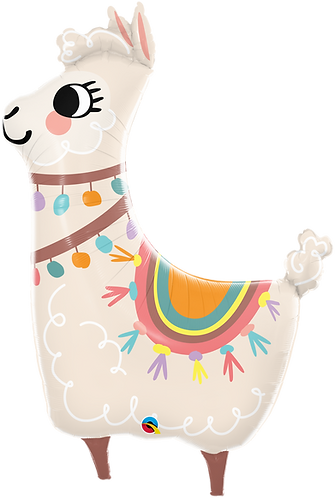 45 Inch Loveable Llama Supershape Foil Balloon