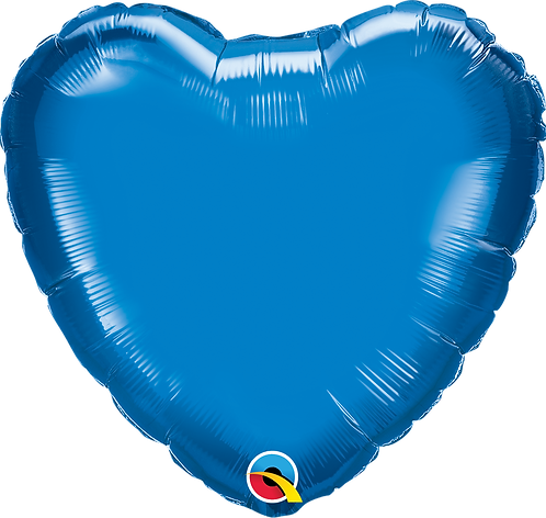 18 Inch Sapphire Blue Heart Foil Balloon