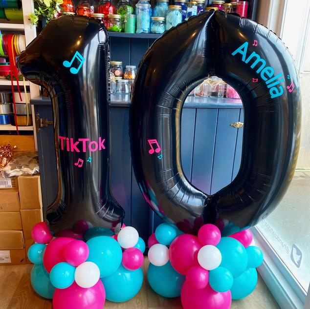 10th birthday - Tik Tok themed large bla