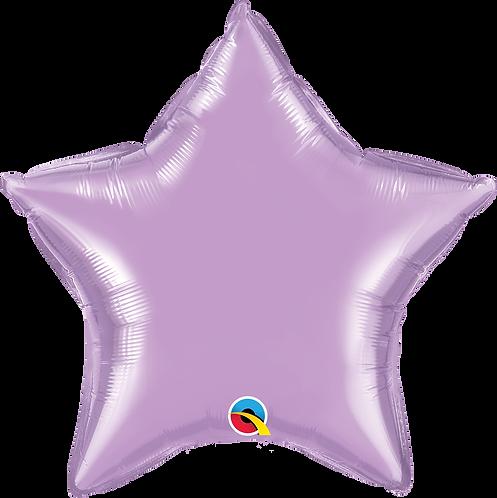 18 Inch Pearl Lavender Star Foil Balloon