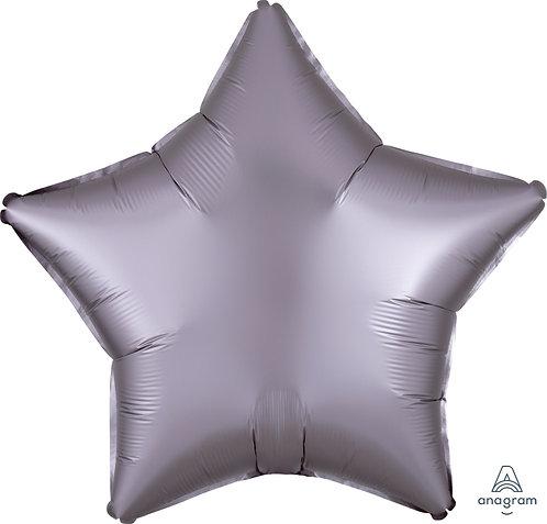 18 Inch Greige Grey Plain Star Foil Balloon, Matt Finish