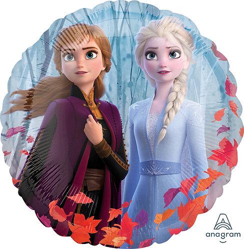 18 Inch Disney Frozen 2 Round Foil Balloon Elsa and Anna