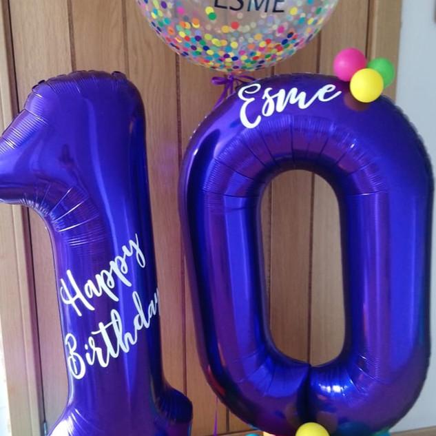 10th Birthday - Colourful rainbow large