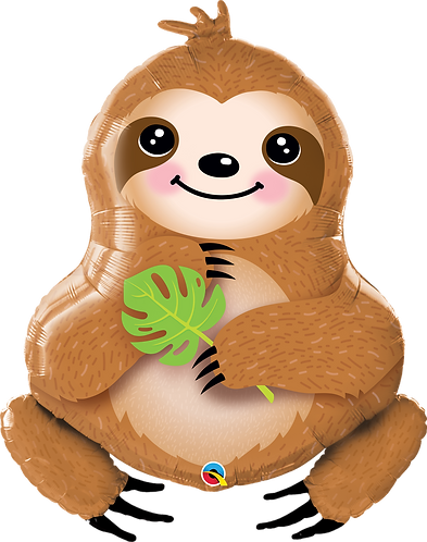 39 Inch Sweet Sloth Supershape Foil Balloon