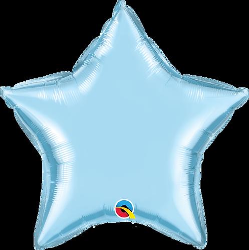 18 Inch Pearl Light Blue Star Foil Balloon