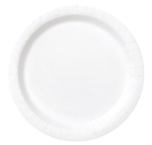 White Round Paper Plates 16pk (23cm)