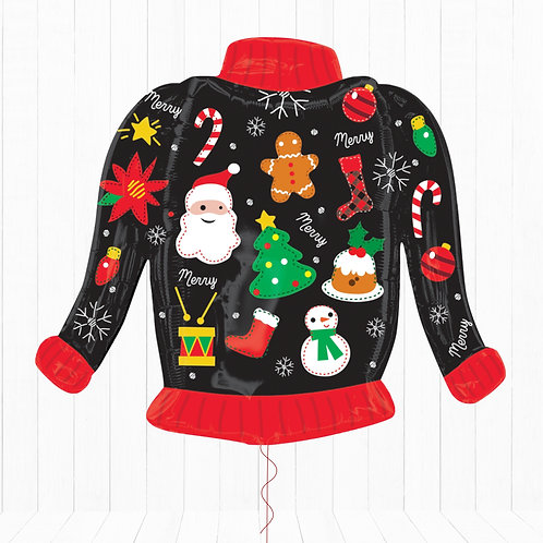 31 Inch SuperShape Balloon Christmas Jumper/Sweater