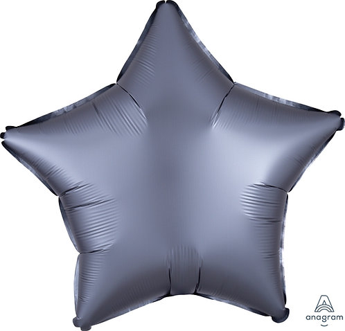 18 Inch Graphite Plain Star Foil Balloon, Matt Finish