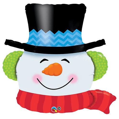36 Inch Supershape Balloon Snowman Head