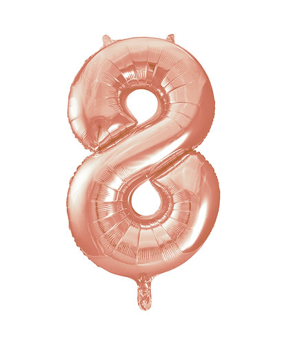 34 Inch Rose Copper Number Balloon