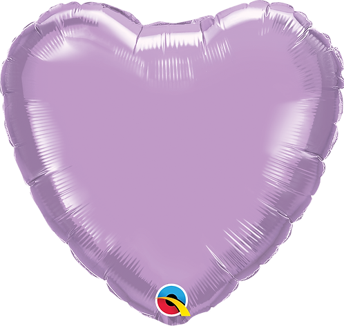 18 Inch Lilac Heart Foil Balloon