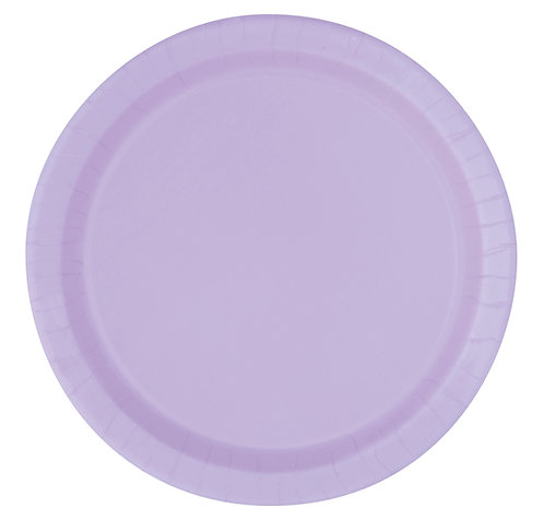 Lilac Round Paper Plates 16pk (23cm)