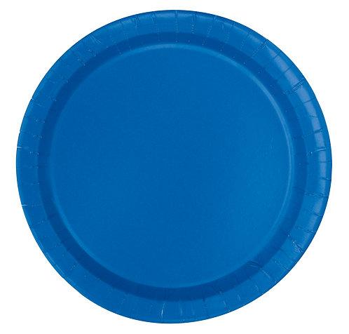 Dark Blue Round Paper Plates 16pk (23cm)