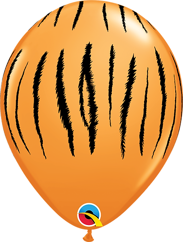 11 Inch Tiger Print Latex Balloons